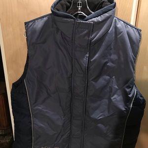 Columbia Womans Vest Side Pockets Velcro Blue XL